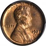 1921-S Lincoln Cent. MS-64 RB (PCGS). CAC.
