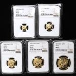 2004年熊猫纪念金币一组5枚 NGC MS
