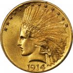 1914 Indian Eagle. MS-65+ (PCGS).