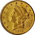 1875-CC Liberty Head Double Eagle. AU-58 (PCGS). CAC.