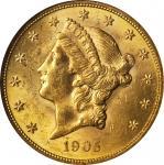 1905 Liberty Head Double Eagle. MS-61 (NGC).