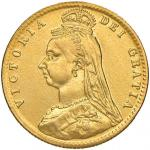Foreign coins;INGHILTERRA Vittoria (1837-1901) Mezza Sterlina 1892 - AU (g 3.86) Da montatura. Ex Ka