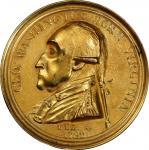 1790 Manly medal. Original. Musante GW-10, Baker-61B, var. Brass, Fire Gilt. AU Details—Cleaned (PCG