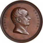 Undated (ca. 1860) Daniel Webster. Bronzed Copper. 76.5 mm. Julian PE-37, var. Mint State.