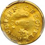 Undated (1831-1834) Christopher Bechtler $1. K-1. Rarity-4. 30.G., Star. AU Details--Damage (PCGS).