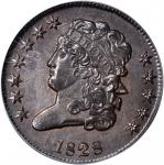 1828 Classic Head Half Cent. C-2. Rarity-2. 12 Stars. MS-64 BN (PCGS). CAC.