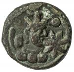 SASANIAN KINGDOM: Yazdigerd II, 438-457, AE pashiz (1.31g), NM, G-166, SNS-49, king s bust right, 7-