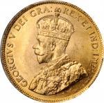 CANADA. 10 Dollars, 1914. Ottawa Mint. PCGS MS-64+Gold Shield.