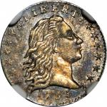 1795 Flowing Hair Half Dime. LM-10. Rarity-3. MS-61 (NGC).