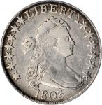 1803 Draped Bust Half Dollar. O-102, T-2. Rarity-3+. Large 3. VF-25 (PCGS).