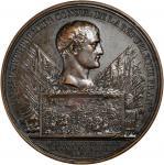 1800/1年法国铜章。 FRANCE. Bronze Medal, Year 8 (1800/1). Grade: EXTREMELY FINE.