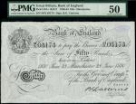 Bank of England, Basil Gage Catterns (1929-1934), 50, Manchester, 28 June 1930, serial number 59/X 0