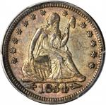1854 Liberty Seated Quarter. Arrows. AU-50 (PCGS).