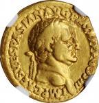 VESPASIAN, A.D. 69-79. AV Aureus (7.24 gms), Lugdunum Mint, A.D. 71. NGC VF, Strike: 4/5 Surface: 2/