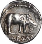 JULIUS CAESAR. AR Denarius (3.91 gms), Military Mint in Italy, ca. 49 B.C.