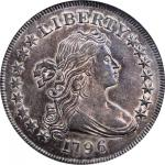 1796 Draped Bust Silver Dollar. BB-65, B-5. Rarity-4. Large Date, Small Letters. MS-61 (NGC).