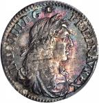 1670-A 5 Sols. Paris Mint. Martin 6-D, Lecompte-186, Hodder-3, W-11605. Rarity-4 (for the type). MS-