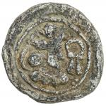 SASANIAN KINGDOM: Varhran IV, 388-399, lead 15mm (3.41g), G-type I, type of SNS-A61, which is a copp