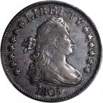 1805 Draped Bust Quarter. B-2. Rarity-2. AU-50 (PCGS).