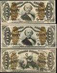 Lot of (3). Fr. 1331.1339 & 1365. 50 Cents. Third Issue. Extremely Fine to Choice About Uncirculated