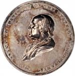 1849 Franklin Institute Reward of Skill and Ingenuity Medal. Silver. 50.9 mm. 61.1 grams. Dies by Go