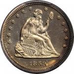 1859 Liberty Seated Quarter. Type II Reverse. Proof-66+ Cameo (PCGS). CAC.