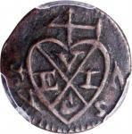 1787年英国联合东印度公司槟城柯平1/4 分。 MALAYA. British United East India Company. Penang. Keping (1/4 Cent), 1787.