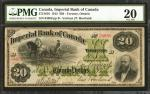 CANADA. Imperial Bank of Canada. 20 Dollars, 1915. CAD3751616. PMG Very Fine 20.