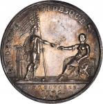 1782 Dutch-American Treaty of Commerce. Silver. 32 millimeters. 12.2 grams. Betts-606. Choice About
