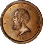 1864 J.A. Bolen Liberty Cap store card. Copper. 28 mm. Musante JAB-9. MS-65BN (NGC).