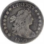 1796 Draped Bust Dime. JR-4. Rarity-4. Fine-12 (PCGS). CAC. OGH--First Generation.