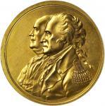 1783 (ca. 1805) Washington & Franklin Medal by Sansom. Gilt Bronze. 40.36 mm. Musante GW-92, Baker-5