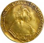 RUSSIA. Ducat, 1751 MAP:13. Elizabeth. PCGS Genuine--Bent, VF Details Gold Shield.