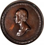 1850 Henry Clay Memorial Medal. Electrotype. By Charles Cushing Wright. Julian PE-7. Bronze. About U