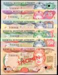 BERMUDA. Lot of (6). Bermuda Monetary Authority. 2 to 100 Dollars, 2000. P-Various. Specimens. Uncir