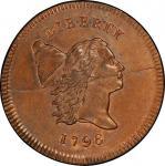 1796美国无杆版自由帽半分  PCGS MS 67