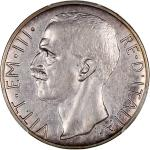 Italy, lot of 2 silver coins, 10 lire, 1930-R and 20 lire, 1928-R (Yr VI),both graded PCGS AU Detail