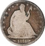 1874-CC Liberty Seated Half Dollar. Arrows. WB-1. Rarity-6. Good-4 (ICG).