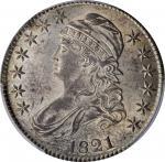 1821 Capped Bust Half Dollar. O-101a. Rarity-1. MS-62 (PCGS).