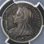 GREAT BRITAIN Victoria ヴィクトリア(1837~1901) Shilling 1893  PCGS-PR64 Proof UNC+