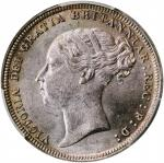 GREAT BRITAIN. 6 Pence, 1883. London Mint. Victoria. PCGS MS-63 Gold Shield.
