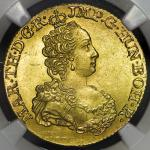 HOUSE OF HABSBURG Maria Theresia マリア・テレジア(1740~80) Souverain D'or 1750  NGC-MS64 UNC+