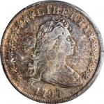 1797 Draped Bust Silver Dollar. BB-71, B-3. Rarity-2. 10x6 Stars. VF Details--Cleaned (PCGS).
