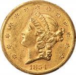 1854-S自由帽双鹰金币 PCGS AU 58