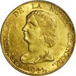 COLOMBIA. 1841-RS 16 Pesos. Bogotá mint. Restrepo M211.9. MS-63 (PCGS).