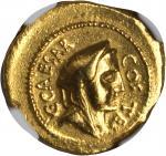 JULIUS CAESAR. AV Aureus (8.07 gms), Rome Mint, ca. 46 B.C.