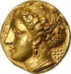 SICILY. Syracuse. Dionysios I, 406-367 B.C. AV 100 Litrai (Double Dekadrachm) (5.80 gms), ca. 400-37