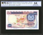 1973年新加坡货币发行局一佰圆,样票。罕见一佰圆样票。PCGS GSG Choice Uncirculated 64.