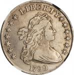 1799 Draped Bust Silver Dollar. BB-158, B-16. VF Details--Improperly Cleaned (NGC).