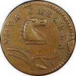 1786 New Jersey copper. Maris 23-P. Rarity-4. Narrow Shield, Curved Plow Beam. VF-35 (PCGS).